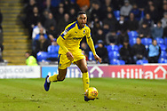 Terell Thomas (6) of AFC Wimbledon on the attack during the EFL Sky Bet League 1 match between Portsmouth and AFC Wimbledon at Fratton Park, Portsmouth, England on 1 January 2019.
