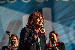 LOS ANGELES, CA - NOV 9  Mega Star singer and actress Angelica Maria performed at Grand Park in Los Angeles, CA during Mundo FOX Feria de Salud y Educacion. 2014 Nov 9 . Byline, credit, TV usage, web usage or linkback must read SILVEXPHOTO.COM. Failure to byline correctly will incur double the agreed fee. Tel: +1 714 504 6870.