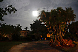 30 July 2015. Marco Island, Florida.<br /> The deserted Florida home of Dr Walter Palmer, the Minnesota dentist who allegedly killed Cecil the lion in Zimbabwe. Dr Palmer has gone to ground since the story broke, taking him from hunter to hunted.<br /> Photo; Charlie Varley/varleypix.com