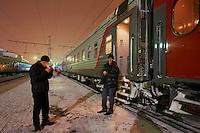 Russie, oblast de Perm, Perm, 30 minutes d'arret, gare ferroviaire, Station du transsiberien. // Russia, Perm oblast, Perm, 30 minutes stop, railway station, Trans-Siberian line.