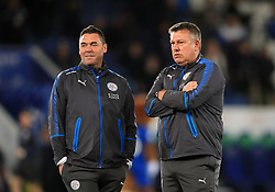 Leicester City head Physiotherapist Dave Rennie (left) and manager Craig Shakespeare