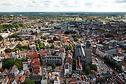 Nederland, Overijssel, Deventer, 30-06-2011;.Zicht op het oude centrum van hanzestad Deventer. View on the Old Town of (Hansa city) Deventer with the main church..luchtfoto (toeslag), aerial photo (additional fee required).copyright foto/photo Siebe Swart