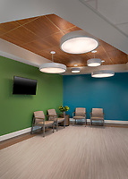 Winchester Medical Center fouth floor nursing unit interior photography by Jeffrey Sauers of CPI Productions