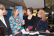 ALICE NAYLOR LEYLAND; PERDITA WEEKS; SUSAN WEEKS, Smythson Sloane St. Store opening. London. 6 February 2012.
