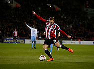 Billy Sharp of Sheffield Utd scores a goal which was disallowed for offside during the English League One match at Bramall Lane Stadium, Sheffield. Picture date: April 5th 2017. Pic credit should read: Simon Bellis/Sportimage