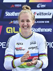 11-08-2018 BMX: EUROPEAN CHAMPIONSHIPS BMX CYCLING: GLASGOW<br /> Laura Smulders heeft haar succesjaar een vervolg gegeven bij het Europees kampioenchap BMX. Nadat ze in juni al de wereldtitel veroverde in Bakoe, was Laura ook in de Schotse stad de sterkste.<br /> <br /> Foto: SCS/Soenar Chamid