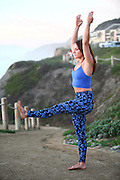 Female Yoga instructor outdoors. Photographed in California, USA
