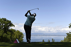 EVIAN-LES-BAINS, FRANCE - SEPTEMBER 15:  Shanshan Feng of China plays a shot , with the Lake Geneva behind during the first round of The Evian Championship on September 15, 2017 in Evian-les-Bains, France. (Credit Image: © Alain Grosclaude/Xinhua via ZUMA Wire)