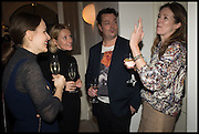 JOE SCOTLAND; CLARE WAIGHT KELLER, Frieze dinner  hosted at by Valeria Napoleone for  Marvin Gaye Chetwynd, Anne Collier and Studio Voltaire 20th anniversary autumn programme. Kensington. London. 14 October 2014.