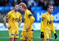 Fotball Herrer Tippeligaen 03.10.2009<br /> Gamle Gress Marienlyst Stadion<br /> <br /> Strømsgodset - Bodø Glimt<br /> <br /> Resultat 3 - 0<br /> <br /> Foto: Robert Christensen Digitalsport<br /> <br /> Bodø Glimt spillere depper etter tap