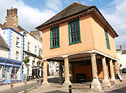 Seventeenth century Market Hall building in the market place of Faringdon, Oxfordshire, England, UK
