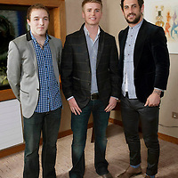 Pictured at the Brown Thomas fashion show which took place at the stunning Aghadoe Heights Hotel, Killarney in aid of 'Irish Autism Action' was Kerry footballers Darren O'Sullivan, left and Paul Galvin with Brian Ormonde in centre.<br /> Picture by Don MacMonagle<br /> further info: Valerie Keating 0872464406