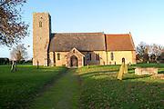 St John the Baptist, rural thatched church, Butley, Suffolk, England