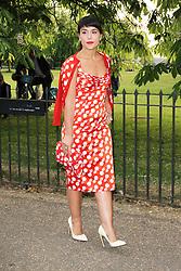© London News Pictures. 26/06/2013. London, UK. Jessie Ware at  The Serpentine Gallery summer party, Kensington Gardens London UK, 26 June 2013, Photo credit: Richard Goldschmidt/LNP