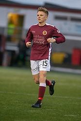 Stenhousemuir's Thomas Halleran. Stenhousemuir 1 v 0 Airdrie, Scottish Football League Division One played 26/1/2019 at Ochilview Park.