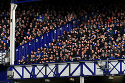 25th February 2017 - Premier League - Everton v Sunderland - Letters indicate the rows in the old stand as fans watch the action inside Goodison Park - Photo: Simon Stacpoole / Offside.