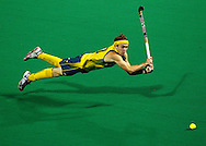 SPORT.Paul Kane.Getty Images..Matthew Swann of Australia dives for the ball during the match between Australia and Pakistan on day one of the International Superseries.