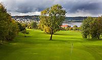 WESTERBURG , DUITSLAND - Hole 3, Golf Club Wiesensee bij Lindner Hotel & Sporting Club Wiesensee in Westerburg (Westerwald). COPYRIGHT KOEN SUYK