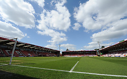 View of the inside Goldsands Stadium. - Photo mandatory by-line: Alex James/JMP - Mobile: 07966 386802 18/04/2014 - SPORT - FOOTBALL - Bournemouth - Goldsands Stadium - AFC Bournemouth v Sheffield Wednesday - Sky Bet Championship