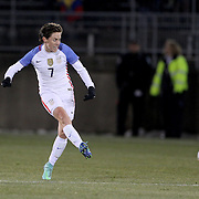 Meghan Klingenberg, USA, in action during the USA Vs Colombia, Women's International friendly football match at the Pratt & Whitney Stadium, East Hartford, Connecticut, USA. 6th April 2016. Photo Tim Clayton