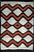 North American Indian artifact: Navajo blanket, 19th century wool, 127x188 cm.