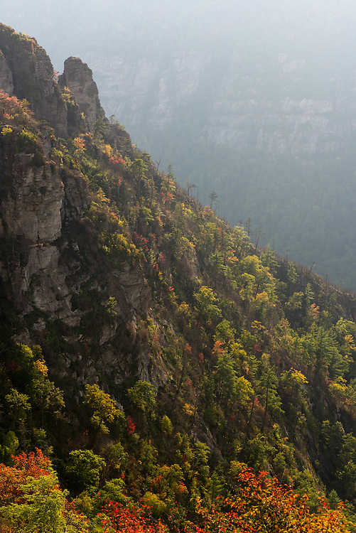 Early Fall at The Chimneys in the Linville Gorge of North Carolina