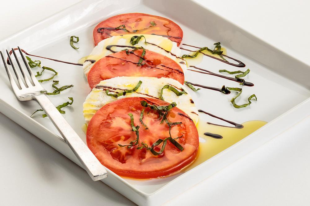 tomato and mozzarella with balsamic vinegar