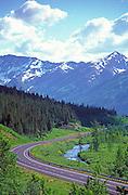 Alaska. Seward Highway along Kenai Peninsula.