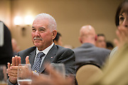 Santa Clara Valley Water District Director Richard P. Santos applauds during the Milpitas Chamber of Commerce 59th Annual Awards and Installation Banquet at Sheraton San Jose Hotel in Milpitas, California, on July 28, 2016. (Stan Olszewski/SOSKIphoto)