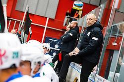 Head coach of HK SZ Olimpija Mitja SIVIC during derbi between  HDD SIJ Acroni Jesenice vs HK SZ Olimpija Ljubljana. October 12, 2021 in Ice Arena Podmezakla, Jesenice, Slovenia. Photo by Peter Podobnik / Sportida