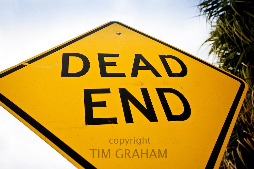 Dead End road sign on Anna Maria Island, Florida, United States of America