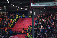 Football - 2018 / 2019 EFL Sky Bet League One - Play-Off Semi-Final, Second Leg: Charlton Athletic (2) vs. Doncaster Rovers (1)<br /> <br /> Fans kept apart as Doncaster Rovers take the lead, at The Valley.<br /> <br /> COLORSPORT/ASHLEY WESTERN