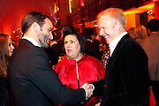TOM FORD; SUZY MENKES;  DR. JOERG RIGHTSFELD, IMG HERALD TRIBUNE HERITAGE LUXURY PARTY.- Celebration of Heritage Luxury and 10 years of the International Herald Tribune Luxury Conferences. North Audley St. London. 9 November 2010. -DO NOT ARCHIVE-© Copyright Photograph by Dafydd Jones. 248 Clapham Rd. London SW9 0PZ. Tel 0207 820 0771. www.dafjones.com.