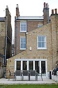 The back garden looking towards the house at 31 Groombridge Road, Hackney, London CREDIT: Vanessa Berberian for The Wall Street Journal<br /> HACKNEY-Lana Wrightman