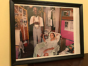 framed photo 8.5 x11 of Margaret and Dennis in bedroom <br />