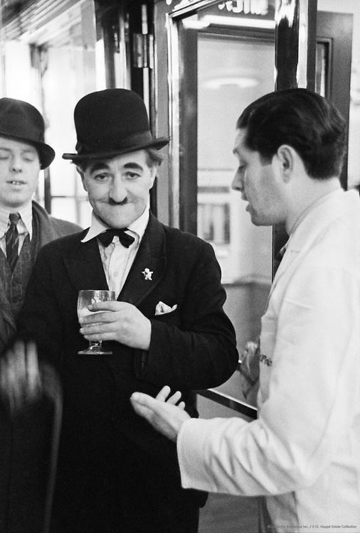 Charlie Chaplin Look-alike on the Street, London, c.1935