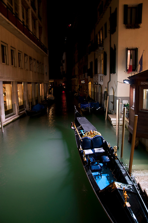 Gondola parked up for the night.