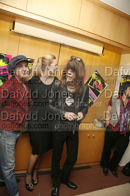 Sylvain Sylvain,Alannah Weston, David Johansen, Future Punk Launch party at Selfridges, Oxford St. : 9th March. ONE TIME USE ONLY - DO NOT ARCHIVE  © Copyright Photograph by Dafydd Jones 66 Stockwell Park Rd. London SW9 0DA Tel 020 7733 0108 www.dafjones.com