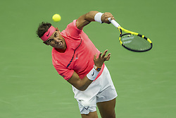 September 6, 2017 - New York, New York, U.S - RAFAEL NADAL in action on Day Ten of the 2017 US Open against Andrey Rublev at the USTA Billie Jean King National Tennis Center on Wednesday in the Flushing neighborhood of the Queens borough of New York City. Nadal won 6-1, 6-2, 6-2. (Credit Image: © David Lobel/EQ Images via ZUMA Press)