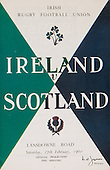Rugby 27/02/1960 Five Nations Ireland Vs Scotland