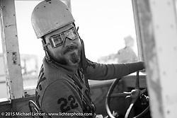 Event promoter Bobby Green in the Root Beer truck at the Race of Gentlemen. Wildwood, NJ, USA. October 11, 2015.  Photography ©2015 Michael Lichter.