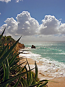 Cupecoy Beach and clouds, Saint-Martin