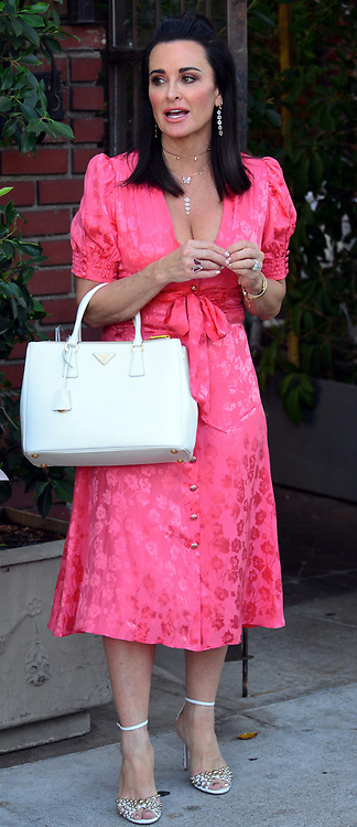 Real Housewives Of Beverly Hills stars Denise Richards, Kyle Richards and Faye Resnick are spotted as they leave Il Cielo Restaurant in Beverly Hills, Ca. 26 Sep 2018 Pictured: Kyle Richards. Photo credit: Blindie/MEGA TheMegaAgency.com +1 888 505 6342