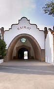 Modernista style vaulted winery. Winery building. Raimat Costers del Segre Catalonia Spain