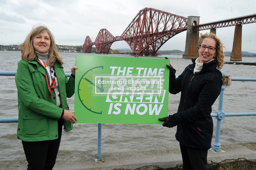 """Scottish Greens co-leader Lorna Slater (right) says """"The time to vote Green is now"""" With Lothian Candidate, Alison Johnstone (Left).<br /> <br /> (c) David Wardle   Edinburgh Elite media"""