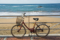 Bike on the sea front in the Canary Islands,