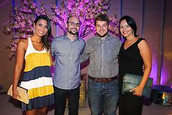 Priscila Barbosa, Rafael Klafke, Romulo Rosso e Sinara Oliveira na festa de inauguração do Viva Open Mall. FOTO: Dani Barcellos/ Agência Preview