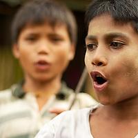 Young burmese boy at the streets of Mandalay