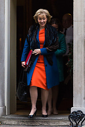 London, December 05 2017. Leader of the House of Commons Andrea Leadsom leaves 10 Downing Street following the weekly cabinet meeting. © Paul Davey