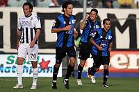Esultanza dopo il gol di German Denis (Atalanta)<br /> Siena 20/11/2011 Stadio<br /> Serie A 2011/2012<br /> Football Calcio Siena Vs Atalanta<br /> <br /> Norway only